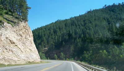 Road in Shoshone National Forest - Wyoming