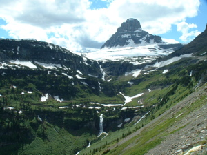 Mountain vista at Glacier National Park in Montana